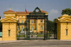 Ho Chi Minh, the Presidential Palace in Hanoi, Vie royalty free stock photo
