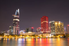 Ho Chi Minh Riverside beautiful night view Royalty Free Stock Photos