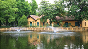 Ho Chi Minh s Residence near the pond Royalty Free Stock Images
