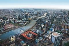 Orizzonte urbano della città, Ho Chi Minh, Vietnam Immagini Stock Libere da Diritti