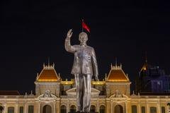 Ho Chi Minh skulptur Arkivbilder