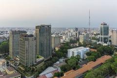 Ho Chi Minh-stadshorizon Stock Foto's