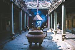 HO CHI MINH STADT, ARIL 03 2016 - Tempel Thien Hau, Chinatown Saigon, Vietnam, Asia Pacific Lizenzfreie Stockfotos