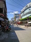 Ho Chi Minh Stadt bis zum Tag lizenzfreie stockfotos