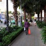 Ho Chi Minh-Stadt, gehende Straße, Weihnachtsjahreszeit Lizenzfreies Stockbild