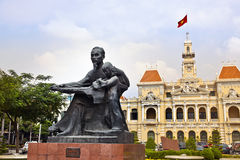 Ho Chi Minh Stadt Hall oder De Saigon, Vietnam Hotel de Ville. Stockfotografie