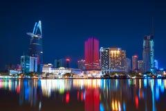 Ho Chi Minh Stadt nachts Stockfoto