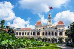 Ho- Chi Minh Stadtvölker-Ausschussgebäude Stockfotos