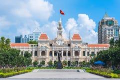 Ho- Chi Minh Stadtvölker-Ausschussgebäude Stockbild