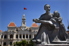 Free Ho Chi Minh Statue Town Hall Saigon Stock Photos - 10663923