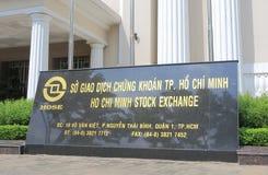 Ho Chi Minh Stock Exchange que construye Vietnam Foto de archivo libre de regalías