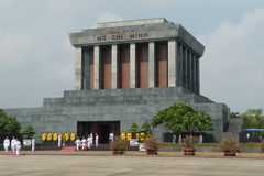 Ho Chi Minh Tomb Mausoleum in Hanoi, Vietnam. This photo shows the Ho Chi Minh mausoleum in Hanoi during the change of guards Royalty Free Stock Images