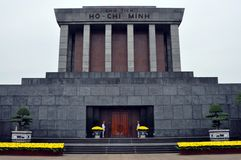 Ho Chi Minh Tomb mausoleum in Hanoi, Vietnam Royalty Free Stock Images