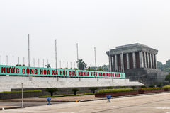 Ho Chi Minh Tomb Mausoleum in Hanoi, Vietnam Royalty Free Stock Photography