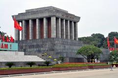 Ho Chi Minh Tomb mausoleum i Hanoi, Vietnam Arkivfoto