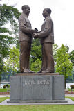 Ho Chi Minh and Ton Duc Thang. Monument of the first (Ho Chi Minh) and second (Ton Duc Thang) presidents of North Vietnam. Located in Hanoi (Lenin park Royalty Free Stock Image