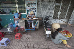Ho Chi Minh - ulica krawczyna Zdjęcia Royalty Free