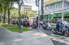 Ho Chi Minh upptagen trafik Royaltyfri Fotografi