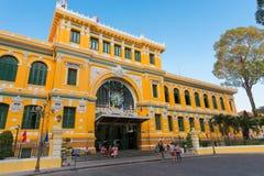 Ho Chi Minh urząd pocztowy Zdjęcia Stock