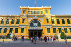 Ho Chi Minh urząd pocztowy Zdjęcie Stock