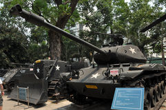Het Amerikaanse Vietnamese Museum van de Resten van de Oorlog, Ho-Chi-Minh-Stad, Vietnam Stock Fotografie
