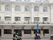 Ho Chi Minh, Vietnam - December 16, 2017 Hotel Continental Saigo. N, famous hotel in the city royalty free stock image