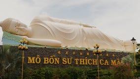 HO CHI MINH, VIETNAM - OCTOBER 13, 2016: Statue of the Buddha. Temple of the Buddha. Vietnam. stock video footage