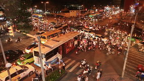 HO CHI MINH, VIETNAM - OCTOBER 13, 2016: Traffic jam with a lot of cars on the roads of Ho Chi Minh City. Vietnam. stock footage