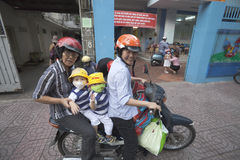 Ho Chi Minh - vita sui motorini Fotografie Stock