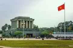 Ho- Chi MinhMausoleum in Hanoi, Vietnam Stockfotografie