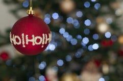 Ho-ho-ho christmas ball royalty free stock photo