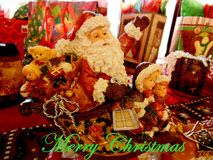 Ho Ho Ho da Santa Claus Immagine Stock