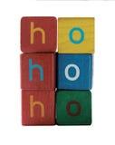 Ho del ho de Ho en las letras de molde de los niños Fotos de archivo libres de regalías