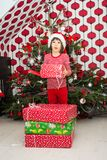 HO HO HO! Glad jul! Arkivbilder