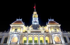 Ho hall de Minh City de chi construisant le Vietnam Images stock