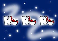 Ho ho ho. Christmas card Stock Photography