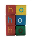 Ho ho ho in children's block letters Royalty Free Stock Photos