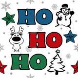 Ho-Ho-Ho Christmas text design  illustration Stock Images