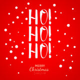 Ho-Ho-Ho Christmas greeting card with lettering and snow Royalty Free Stock Photos