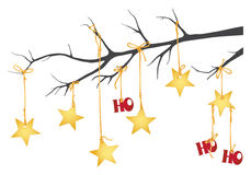 Ho Ho Ho Christmas Stars Royalty Free Stock Photo
