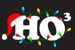 Ho ho ho. Ho3 decorative christmas text ho ho ho merry christmas Stock Image