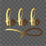 Ho ho ho hand drawn lettering stock images