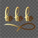 Ho ho ho Hand gezeichnete Beschriftung Vektor Abbildung