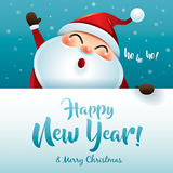 HO HO HO! Happy New Year and Merry Christmas! Royalty Free Stock Photo