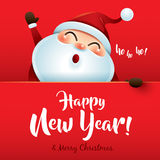 HO HO HO! Happy New Year and Merry Christmas! Stock Image