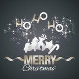 Ho-ho-ho Merry Christmas elements black vector. Ho-ho-ho Merry Christmas elements stardust gold white black vector Royalty Free Stock Photography