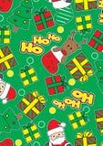 Ho Ho Ho Santa. Vector illustration of Santa and Christmas in a repeat pattern Royalty Free Stock Photos