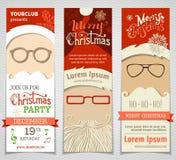 Ho! Ho! Ho! Set of Santa banners. Royalty Free Stock Photo