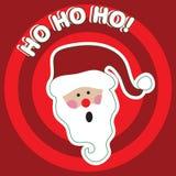 HO HO HO! - Weihnachtsmann Stockbild