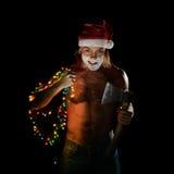 Ho-Ho-Horrible Santa Claus Royalty Free Stock Photography